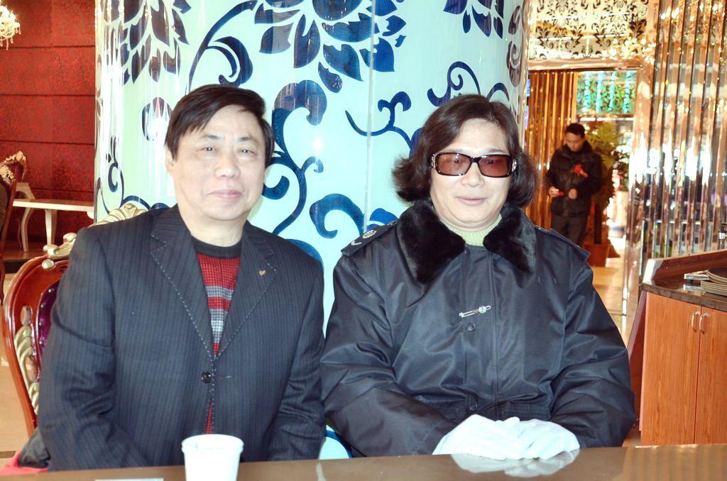 赋帝潘承祥与黄梅戏表演艺术家潘启才会晤